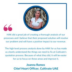 Testimonial - Cultivate UAE